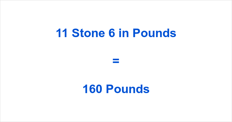 11 Stone 6 in Pounds