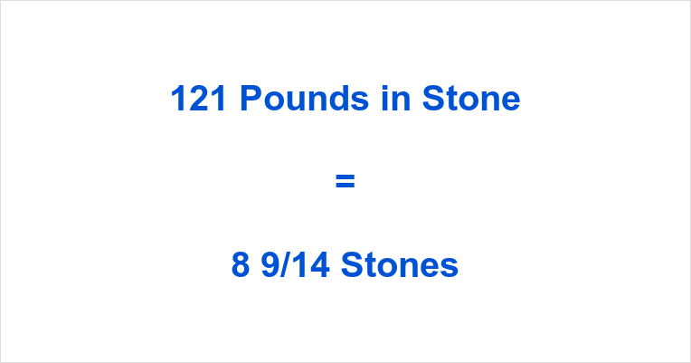 121 Pounds in Stone