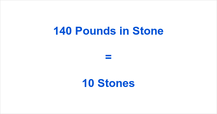 140 Pounds in Stone