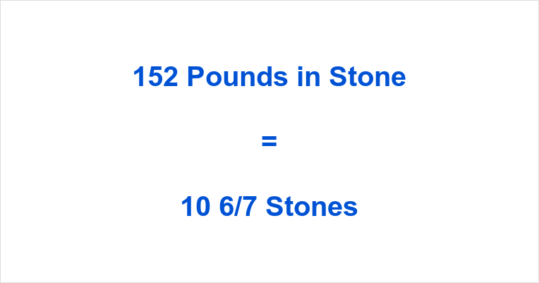152 Pounds in Stone
