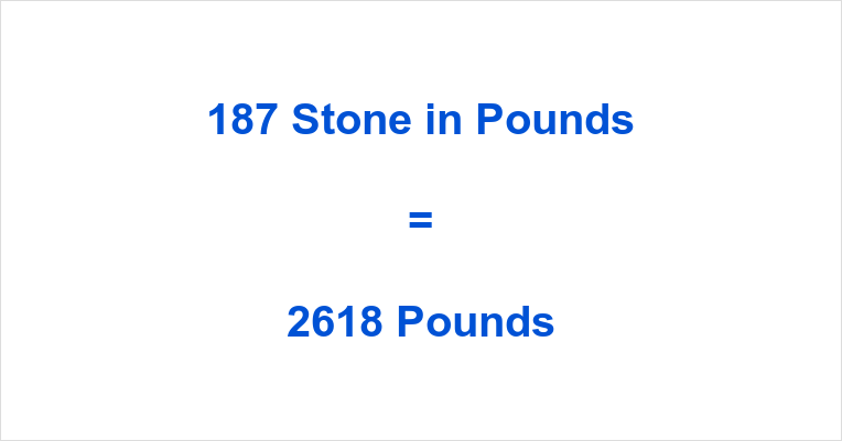 187 Stone in Pounds