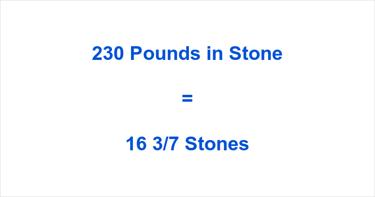 230 Pounds in Stone – 230 Lbs in Stone – 230 Lbs to St