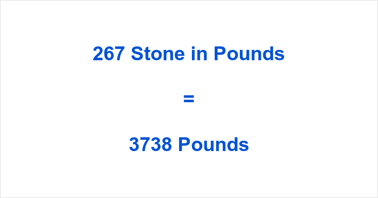 267 Stone in Pounds