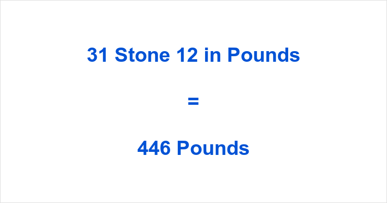 31 stone 12 in pounds 31 stone 12 in lbs 31 stones 12 to pounds