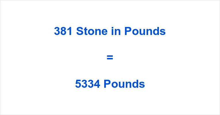 381 Stone in Pounds