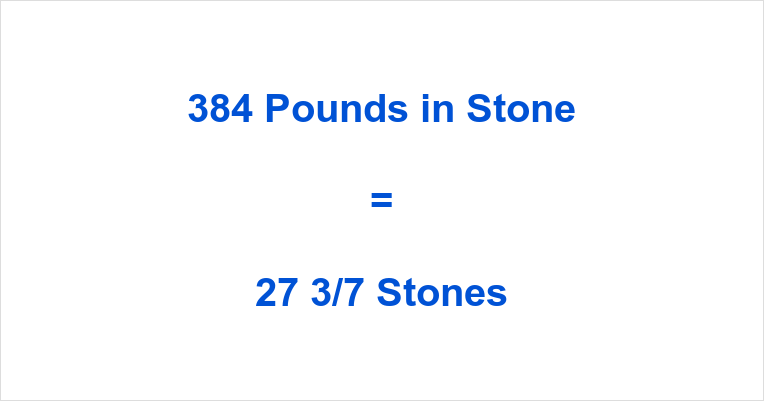 384 Pounds in Stone