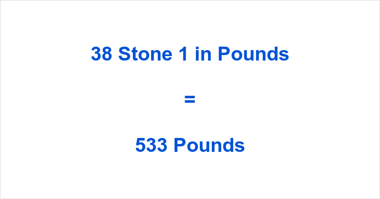 38 Stone 1 in Pounds