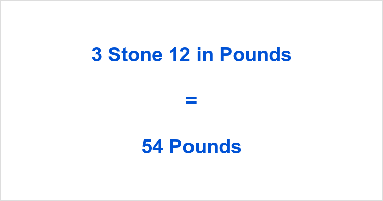3 Stone 12 in Pounds