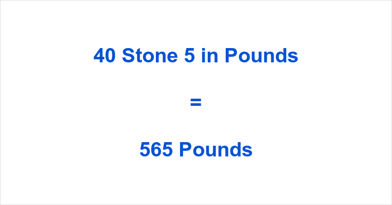 40 Stone 5 in Pounds