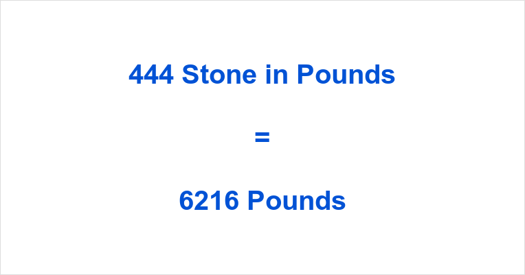 444 Stone in Pounds