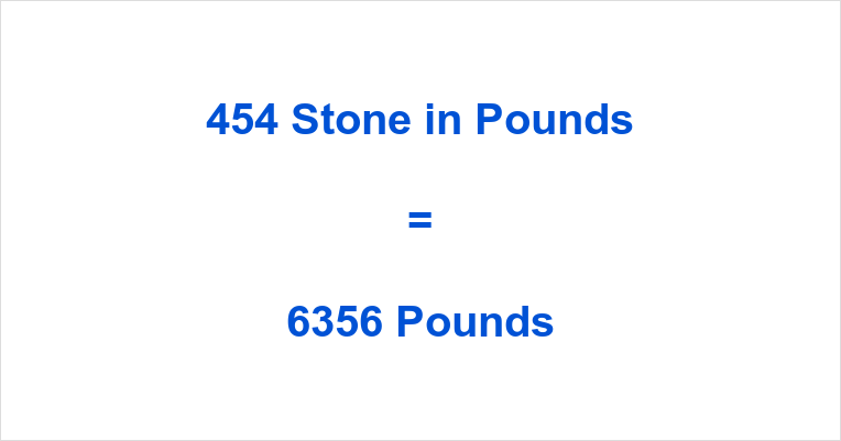 454 Stone in Pounds