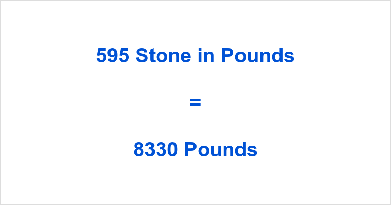 595 Stone in Pounds