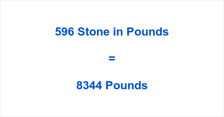 596 Stone in Pounds