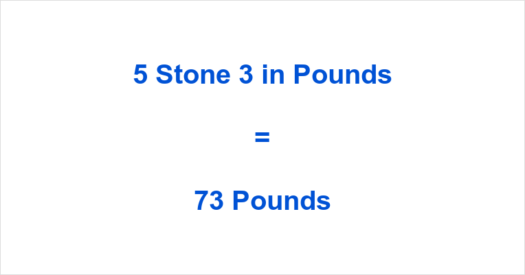 5 Stone 3 in Pounds