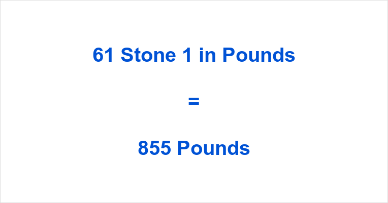 61 Stone 1 in Pounds