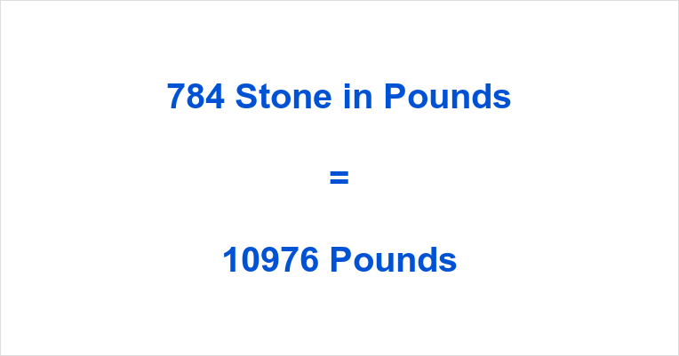 784 Stone in Pounds