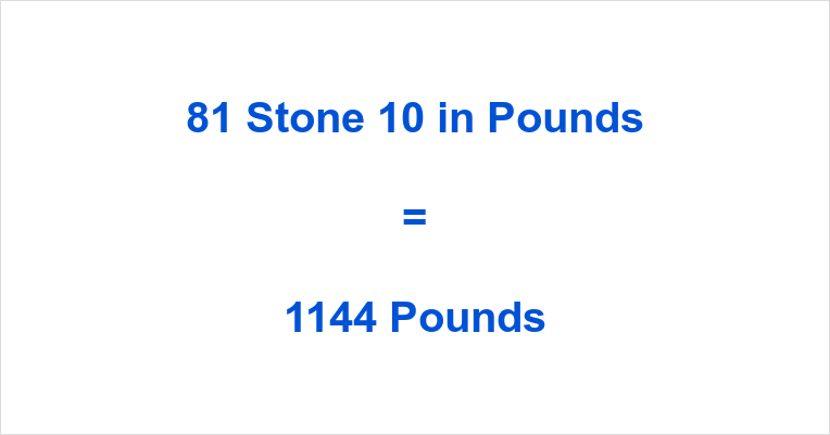 81 Stone 10 in Pounds