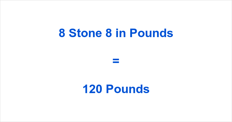 8 Stone 8 in Pounds
