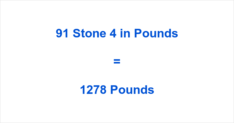 91 Stone 4 in Pounds