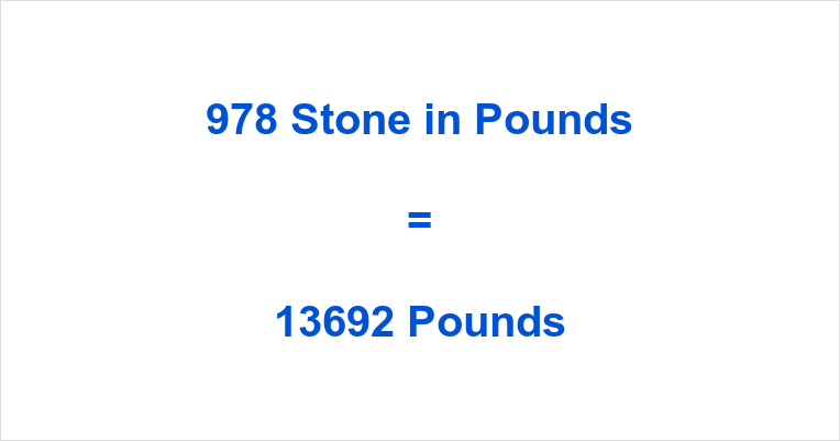978 Stone in Pounds