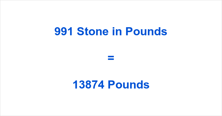 991 Stone in Pounds