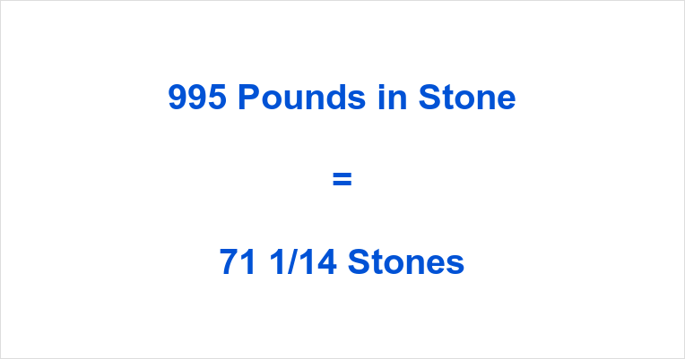 995 Pounds in Stone