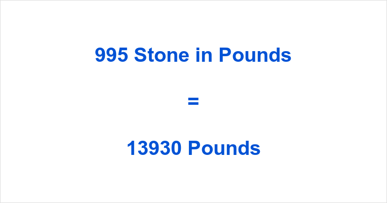 995 Stone in Pounds