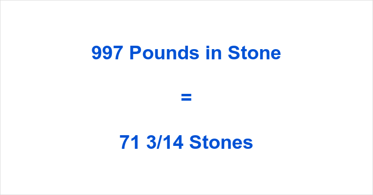 997 Pounds in Stone